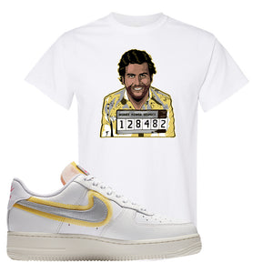 Air Force 1 Low 07 LX White Gold T Shirt | Escobar Illustration, White
