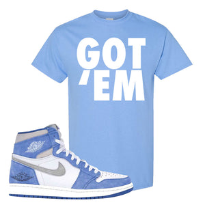 Air Jordan 1 High Hyper Royal T-Shirt | Got Em, Carolina Blue