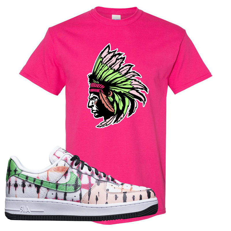 Air Force 1 Low Multi-Colored Tie-Dye T Shirt | Heliconia, Indian Chief