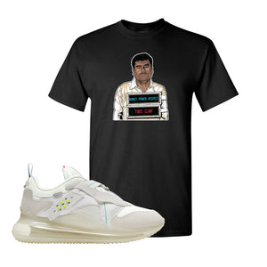 Air Max 720 OBJ Slip White T Shirt | Black, El Chapo Illustration