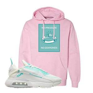 Air Max 2090 Pristine Green Hoodie | Light Pink, No Pressure No Diamond