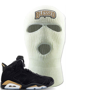 Jordan 6 DMP 2020 Ski Mask | White, Blessed Arch