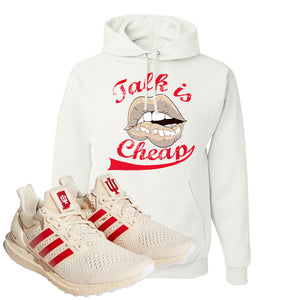 Adidas Ultra Boost 1.0 Indiana Pullover Hoodie | Talk Is Cheap, White
