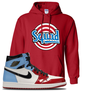 Air Jordan 1 Fearless Squad Red Made to Match Pullover Hoodie