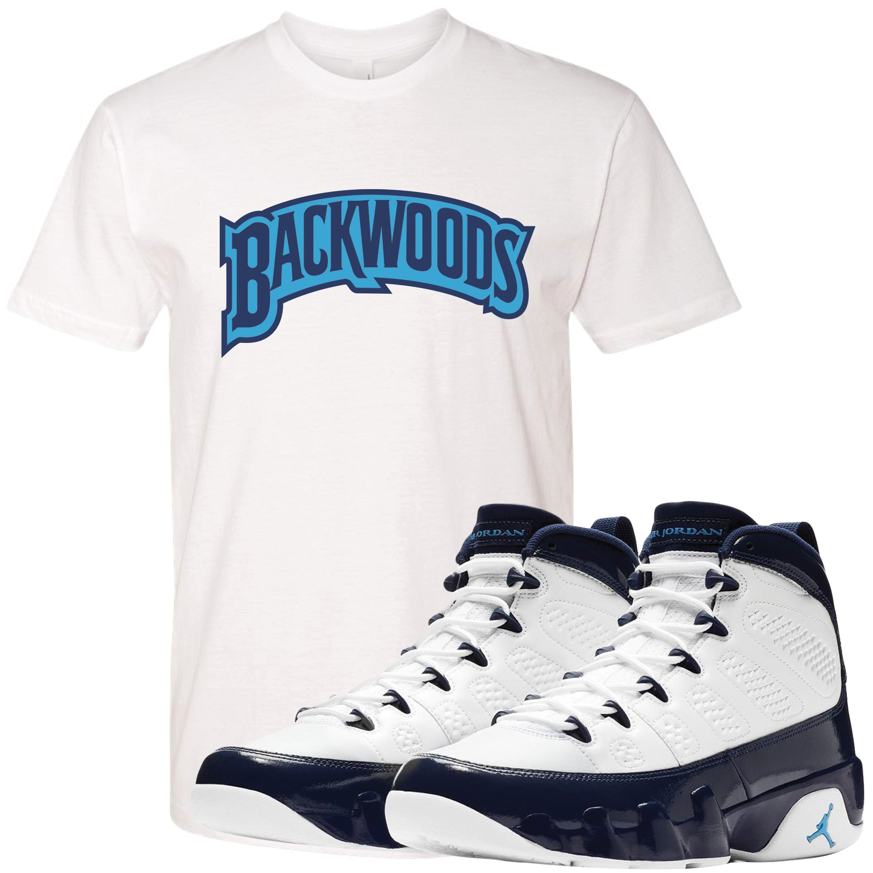 53ae7f92572 Match your pair of Jordan 9 UNC All Star Blue Pearl sneakers with this  sneaker matching