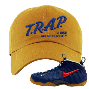 Air Foamposite Pro USA Dad Hat | Timber, Trap To Rise Above Poverty