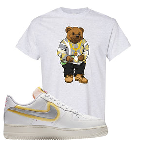 Air Force 1 Low 07 LX White Gold T Shirt | Sweater Bear, Ash