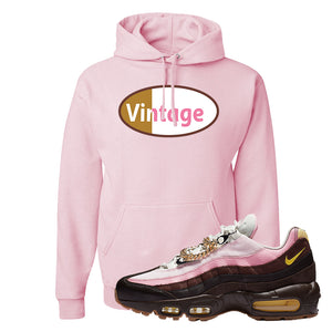 Air Max 95 Cuban Links Hoodie | Classic Pink, Vintage Oval