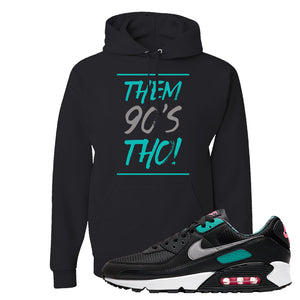 Air Max 90 Black New Green Hoodie | Them 90's Tho, Black
