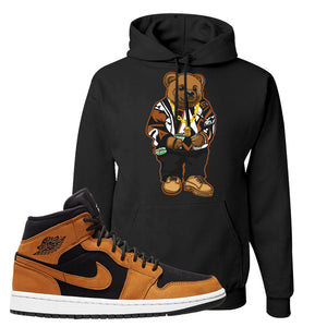 Air Jordan 1 Mid Wheat Hoodie | Sweater Bear, Black