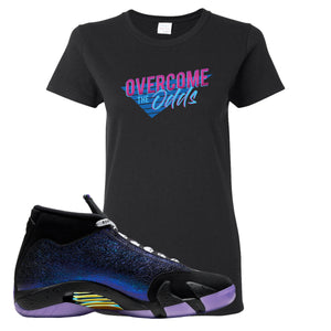 Jordan 14 Doernbecher Women's T Shirt | Black, Overcome The Odds
