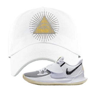 Kyrie Low 3 Dad Hat | White, All Seeing Eye