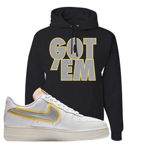 Air Force 1 Low 07 LX White Gold Hoodie | Got Em, Black