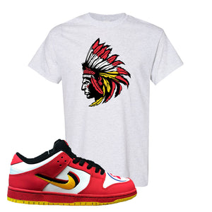 Nike Dunk Low Vietnam 25th Anniversary T-Shirt | Indian Chief, Ash