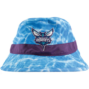 Charlotte Hornets Surf Camo Mitchell and Ness Bucket Hat