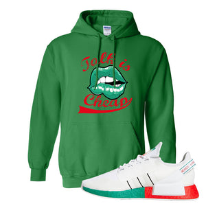 NMD R1 V2 Ciudad De Mexico Hoodie | Irish Green, Talk Is Cheap