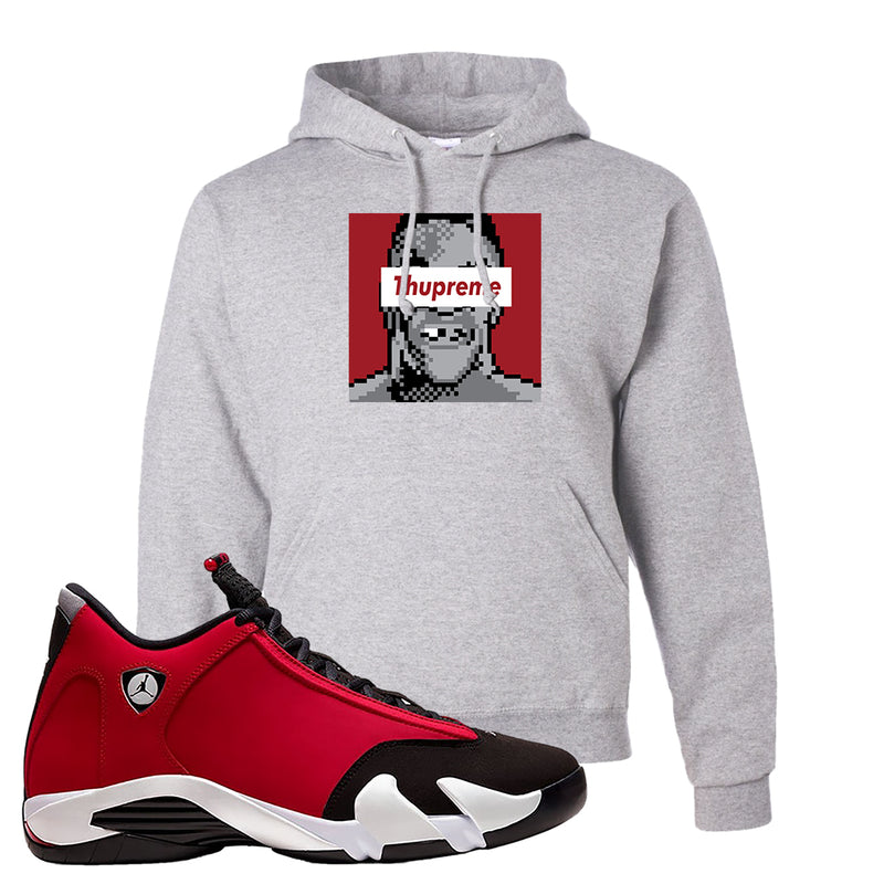Air Jordan 14 Gym Red Hoodie | Ash, Thupreme