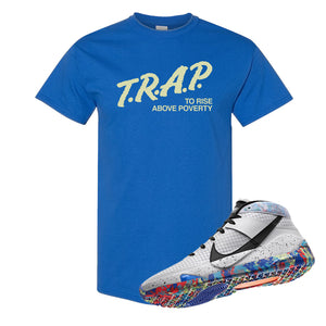 KD 13 Home T Shirt | Royal, Trap To Rise Above Poverty