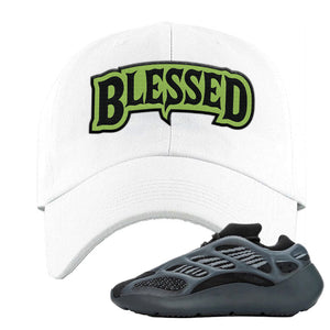 Yeezy 700 v3 Alvah Dad Hat | White, Blesssed Arch