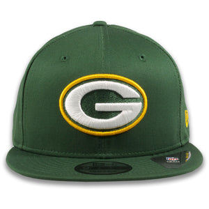 Green Bay Packers Current Logo Green New Era 9Fifty Snapback Hat