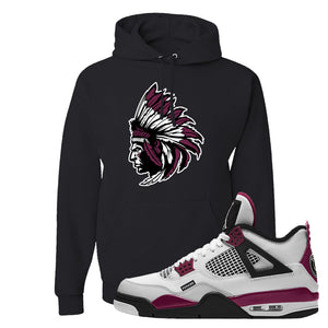 Air Jordan 4 PSG Paname Pullover Hoodie | Indian Chief, Black