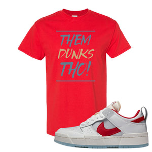 Dunk Low Disrupt Gym Red T Shirt | Them Dunks Tho, Red