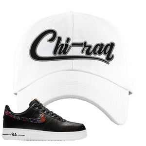 Air Force 1 Low Black Floral Dad Hat | Chiraq, White