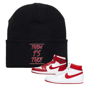 Jordan 1 New Beginnings Pack Sneaker Black Beanie | Beanie to match Nike Air Jordan 1 New Beginnings Pack Shoes | Them 1's Tho