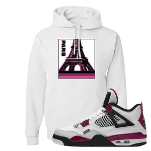 Air Jordan 4 PSG Paname Pullover Hoodie | Paris Pop Art, White