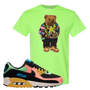 Furry Air Max 90 Bright Neon T Shirt | Sweater Bear, Neon Green