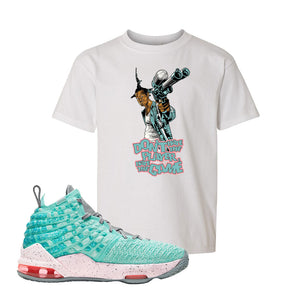 Lebron 17 South Beach Kids T-Shirt | Dont Hate the Playa, White