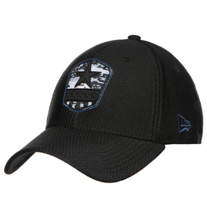 Dallas Cowboys 2019 Salute To Service On-Field Black Sideline 39Thirty Flexfit Cap
