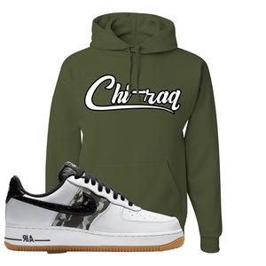Air Force 1 Low Camo Hoodie | Chiraq, Fatigue Green