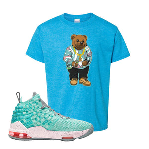 LeBron 17 'South Beach' Kid's T Shirt | Heather Sapphire, Sweater Bear