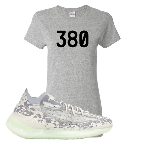 Yeezy Boost 380 Alien 380 Sport Gray Sneaker Matching Women's T-Shirt