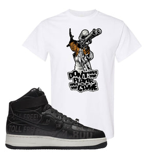 Air Force 1 High Hotline T Shirt | Don't Hate The Playa, White
