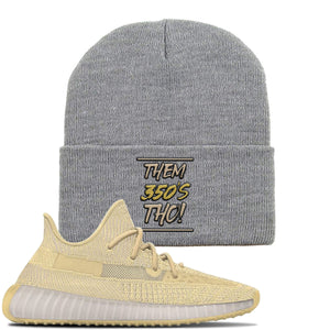 Yeezy Boost 350 V2 Flax Sneaker Light Gray Beanie | Beanie match Adidas Yeezy Boost 350 V2 Flax Shoes | Them 350's Tho