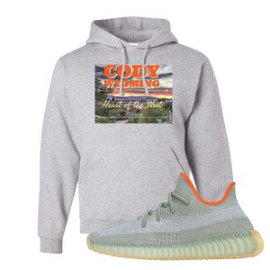 Yeezy 350 V2 Desert Sage Hoodie | Ash, Cody Wyoming Heart Of The West