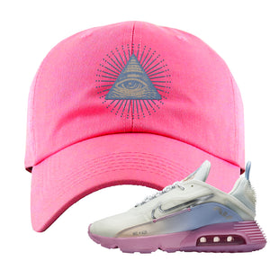 Air Max 2090 Airplane Travel Dad Hat | All Seeing Eye, Pink