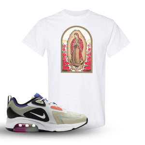 Air Max 200 WMNS Fossil Sneaker White T Shirt | Tees to match Nike Air Max 200 WMNS Fossil Shoes | Virgin Mary