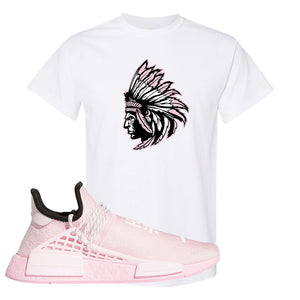 NMD Hu Tonal Pink T Shirt | Indian Chief, White