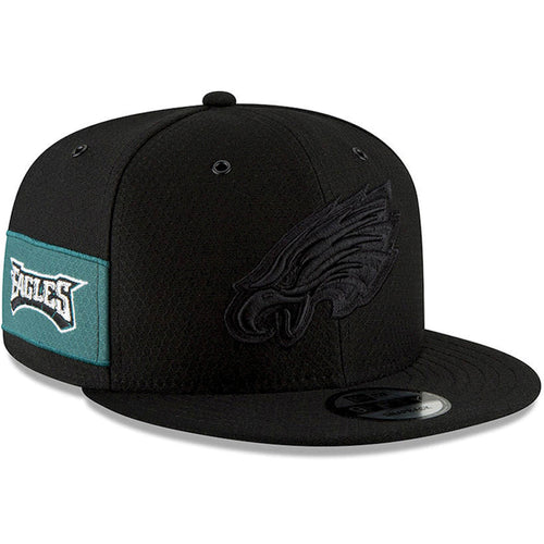 Philadelphia Eagles 2018 On Field 9FIFTY Black on Black Snapback Hat