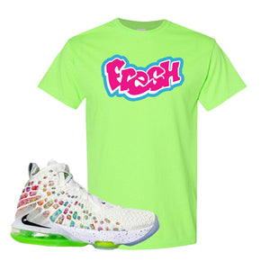 Lebron 17 Air Command Force T Shirt | Neon Green, Fresh