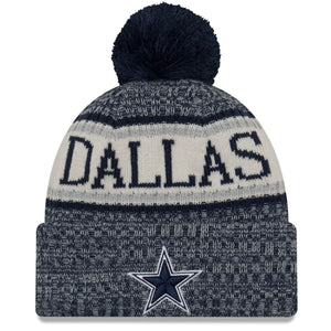 Dallas Cowboys 2018 On Field Youth Kid's Size Winter Pom Knit Beanie