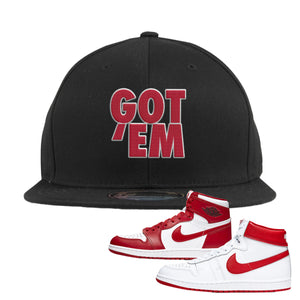 Jordan 1 New Beginnings Pack Sneaker Black Snapback Hat | Hat to match Nike Air Jordan 1 New Beginnings Pack Shoes | Got Em