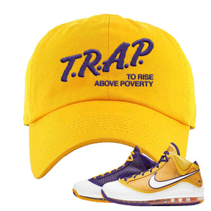 Lebron 7 'Media Day' Dad Hat | Gold, Trap To Rise Above Poverty
