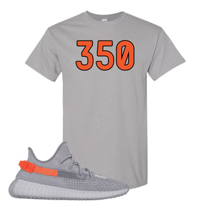 Yeezy Boost 350 V2 Tail Light Sneaker Gravel T Shirt | Tees to match Adidas Yeezy Boost 350 V2 Tail Light Shoes | 350