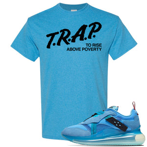 Air Max 720 OBJ Slip Light Blue T Shirt | Heather Sapphire, Trap To Rise Above Poverty