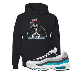 Air Max 95 Red Carpet Hoodie | Capone Illustration, Black