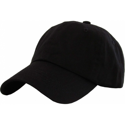 KB ETHOS BENTBRIM ADULT LOW ADJUSTABLE DAD HAT - BLACK